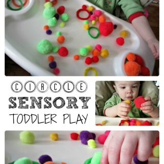 Simple Toddler Sensory Play Exploring Circles at B-InspiredMama.com