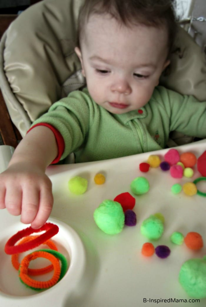 Simple Toddler Sensory Play with Circles at B-InspiredMama.com