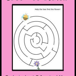 A Super Cute And FREE Bee Maze Printable for Kids