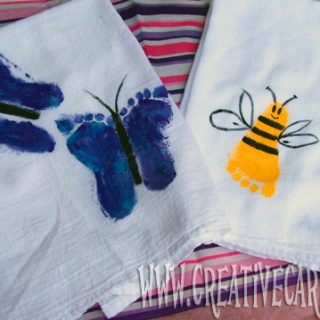 Kids Footprint Towels for Mom [From the Mamas]