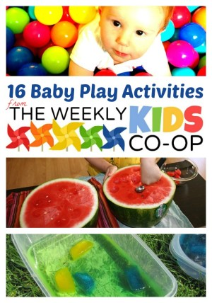16 Fun Activities for Babies and Toddlers at WeeklyKidsCoOp.com