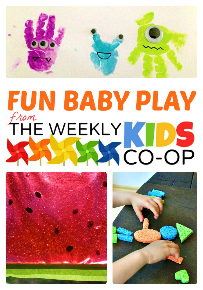 16 Fun Activities for Babies from The Weekly Kids Co-Op at B-InspiredMama.com
