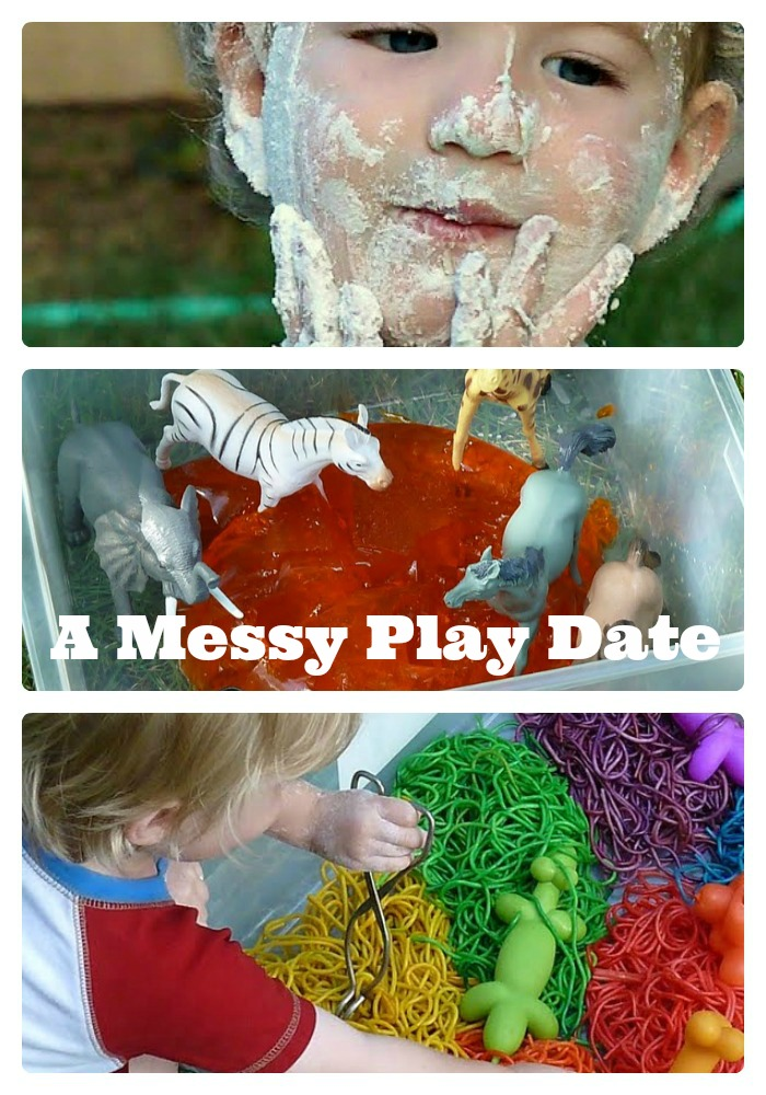 A Messy Play Date from My Little Happies at B-InspiredMama.com