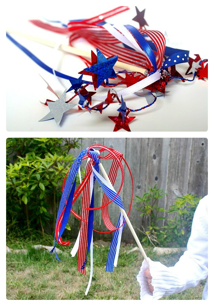 A Spirit Wand 4th of July Craft for Kids at B-InspiredMama.com
