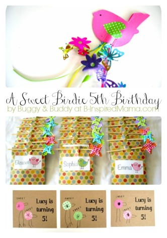 Bird Theme Party Ideas from Buggy and Buddy at B-InspiredMama.com
