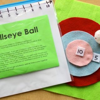 DIY Bullseye Ball Math Game