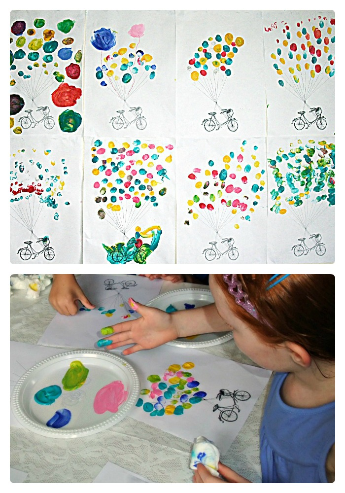 Kids Fingerprint Balloon Art from Speckled Sydney at B-InspiredMama.com