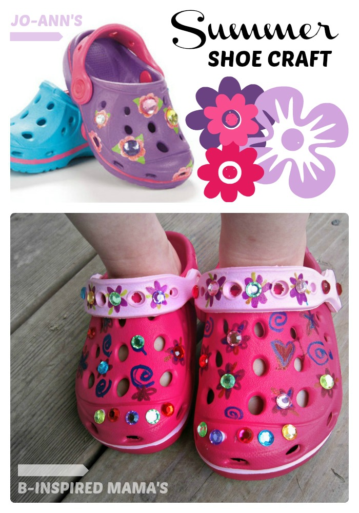 Kids Summer Shoe Craft Sponsored by #SummerofJoann at B-InspiredMama.com