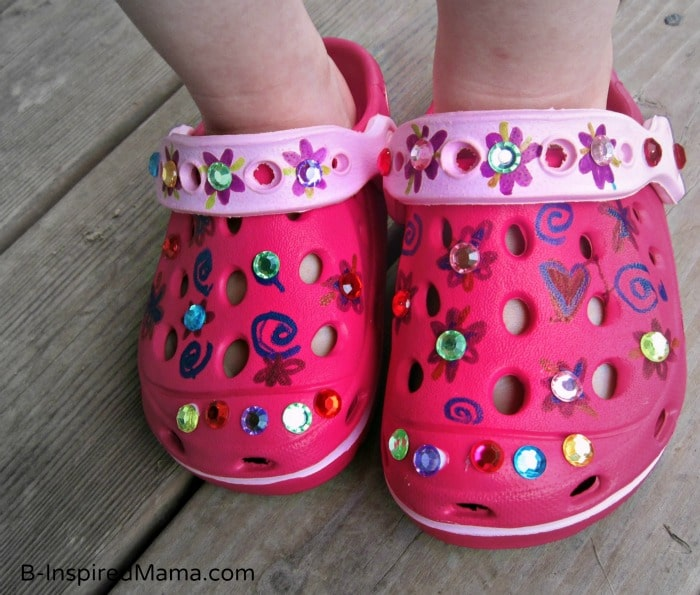 Kids Summer Shoe Craft at B-InspiredMama.com
