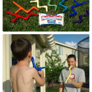Make a Marshmallow Shooter for Fathers Day at B-InspiredMama.com