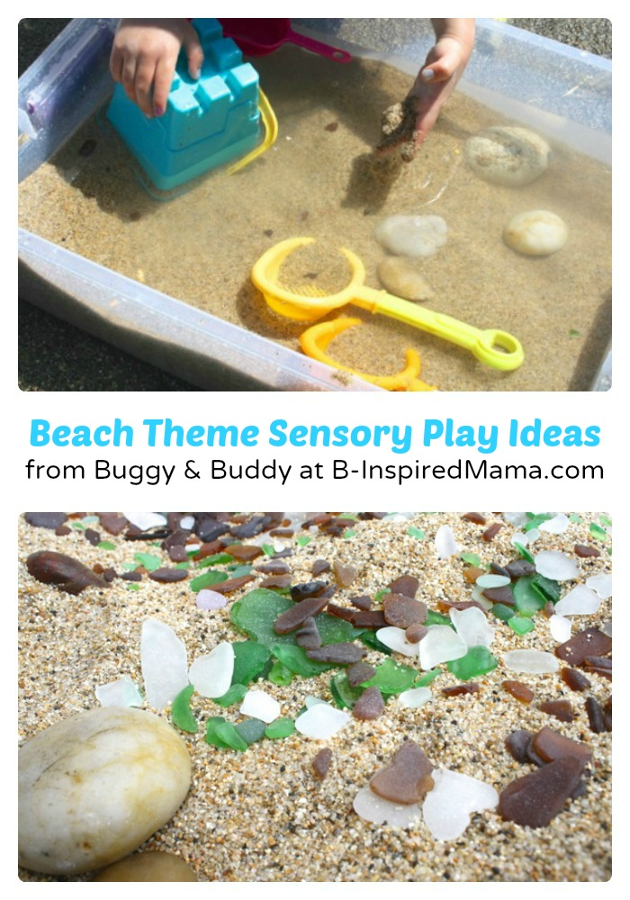Preschool Beach Theme Sensory Play Ideas from Buggy & Buddy at B-InspiredMama.com