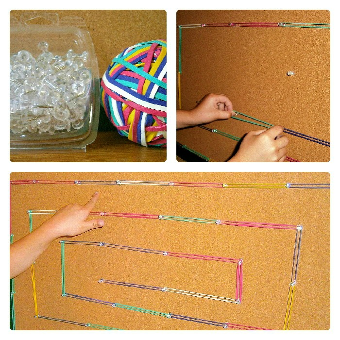 Supplies and Steps for a DIY Geoboard from Fun-A-Day! at B-InspiredMama.com