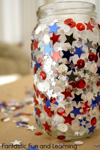 4th of July Craft Jar Candle