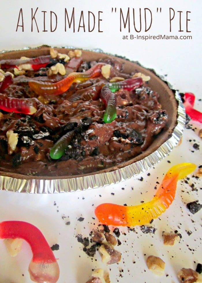 A Kids Mud Pie Recipe at B-InspiredMama.com