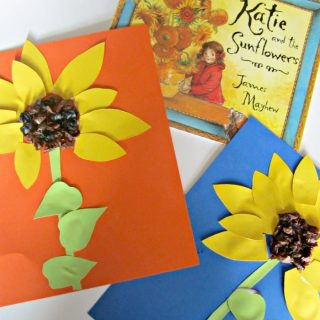 Book Inspired Sunflower Kids Craft at B-InspiredMama.com