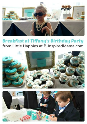 Breakfast at Tiffany's Girls Birthday Party from Little Happies at B-InspiredMama.com