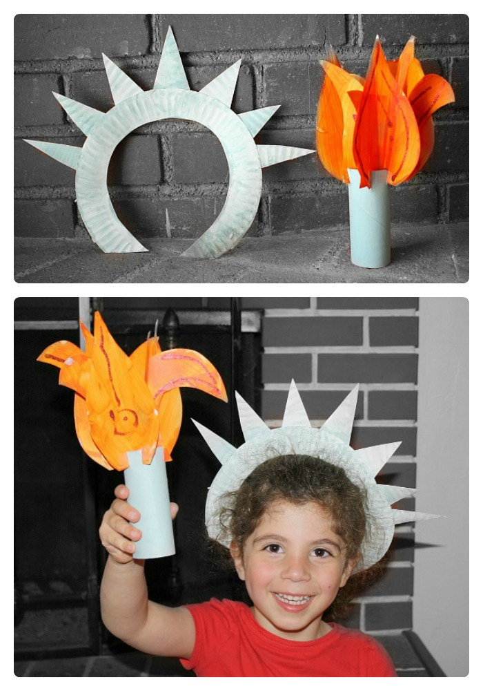 Cute Statue of Liberty Craft for Kids from Buggy and Buddy at B-InspiredMama.com