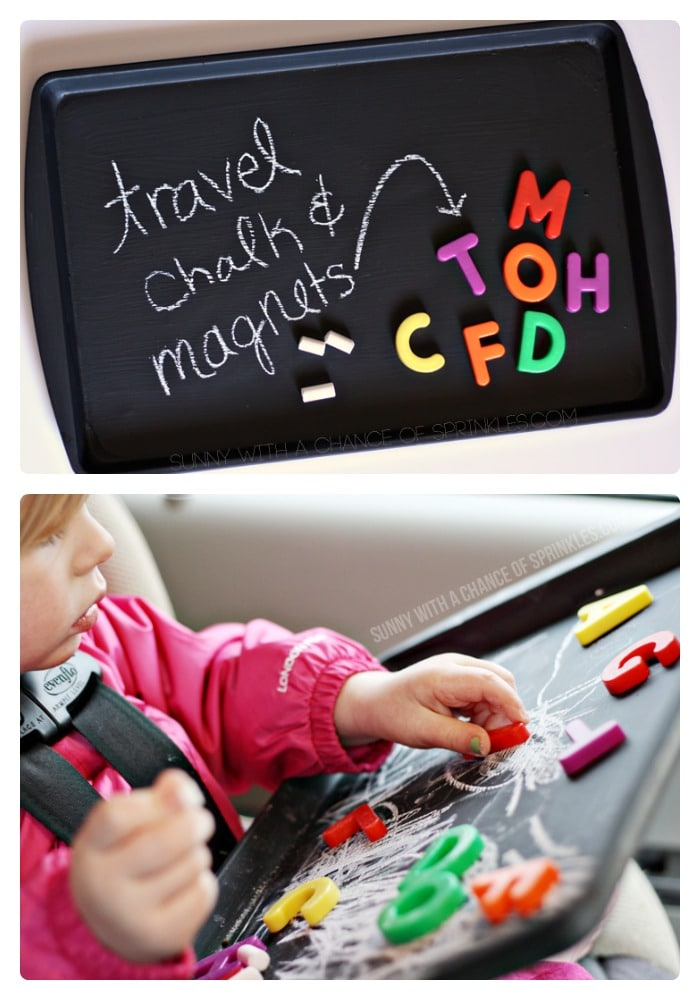 Diy kids travel activity board from cloudy with a chance of sprinkles at b inspiredmama