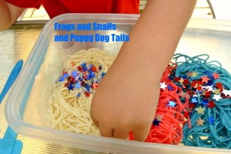 4th of July Preschool Noodle Play
