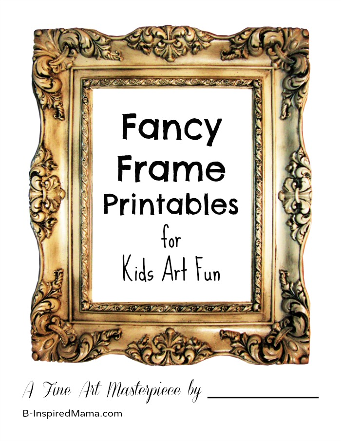 photograph about Printable Frame titled Extravagant Consider Body Drawing Printables for Your Individual Youngsters Artwork