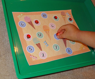 Ice Cream Math Game Printable