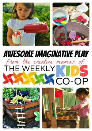 Imaginative Play Ideas from The Weekly Kids Co-Op at B-InspiredMama.com