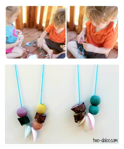 Necklace Nature Craft for Kids from Twodaloo at B-InspiredMama.com