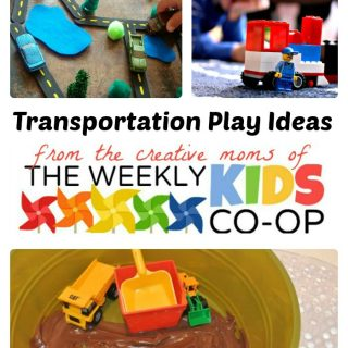Playing Cars Trains and Trucks with The Weekly Kids Co-Op at B-InspiredMama.com