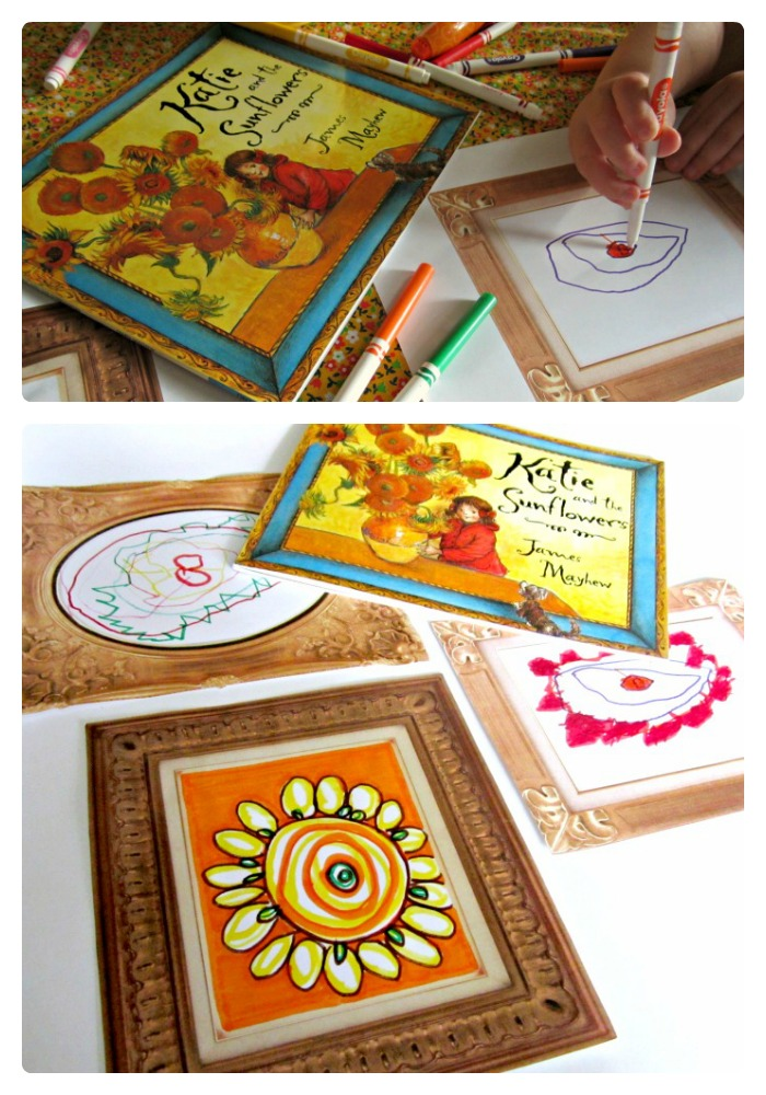Fancy Picture Frame Drawing Printables for Your Own Kids Art Gallery
