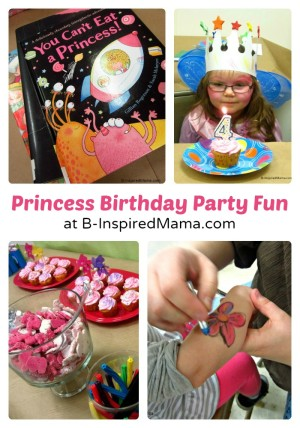 Priscilla's Happy Birthday Princess Party at B-InspiredMama.com
