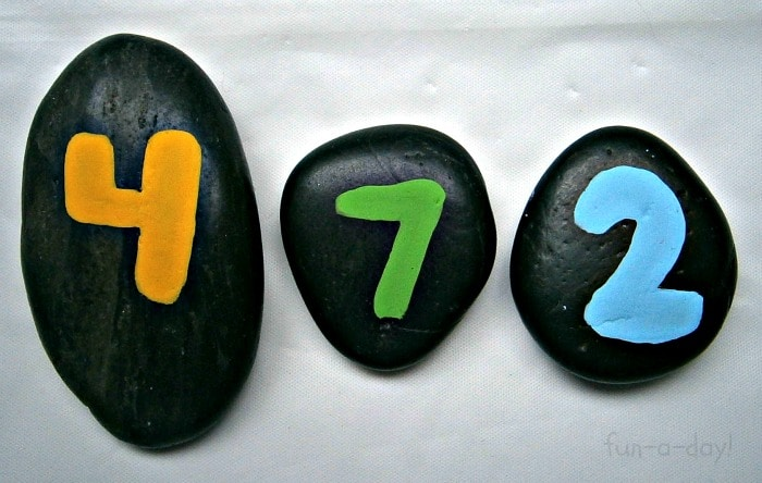 Using Number Rocks to Make Math Fun from Fun-A-Day! at B-InspiredMama.com