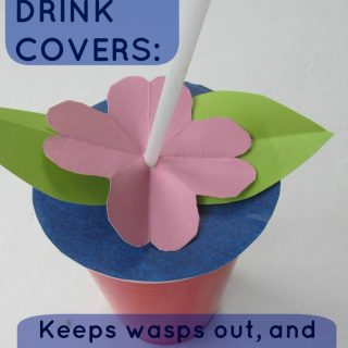 Drink Cover Summer Kids Craft [Contributed by The Usual Mayhem]