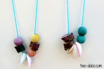 Necklace Nature Craft for Kids