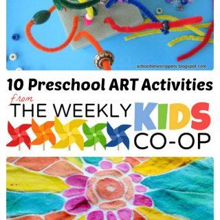 10 Preschool Art Activities from The Weekly Kids Co-Op at B-InspiredMama
