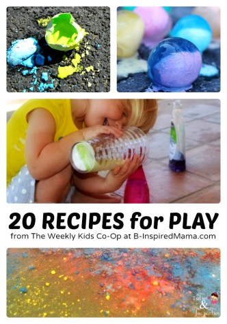 20 Play Recipes from The Weekly Kids Co-Op at B-InspiredMama.com