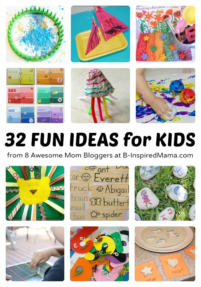32 Kids Posts from 8 Awesome Mom Bloggers at B-InspiredMama.com