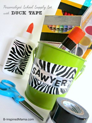 A Back to School Craft for Personalizing School Supplies at B-Inspired Mama
