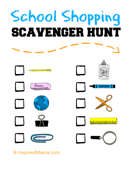 picture regarding Printable Scavenger Hunt for Kids named A Children Again toward College Browsing Scavenger Hunt Printable
