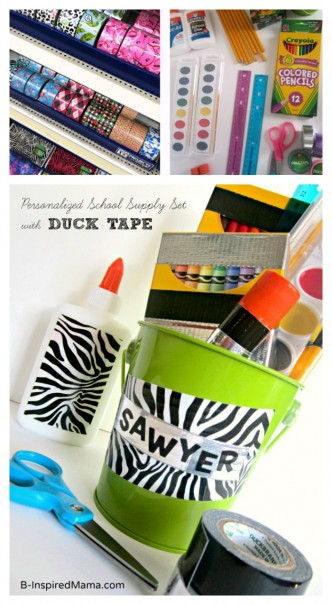Back to School Craft - Personalized School Supply Kit at B-Inspired Mama