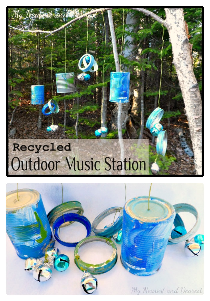 DIY Musical Kids Outdoor Play Area from My Nearest and Dearest at B-InspiredMama.com
