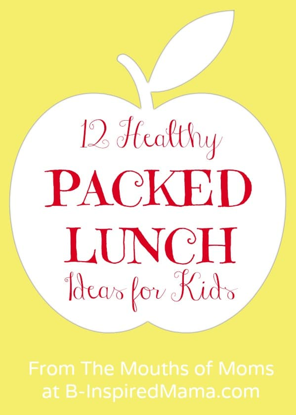Easy and Healthy Packed Lunch Ideas at B-InspiredMama.com