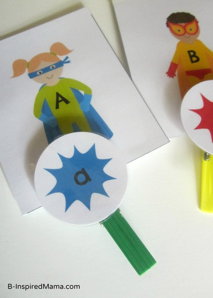 A SUPERhero-Theme Upper and Lowercase Letters Printable Matching Game!