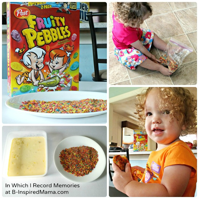 Making Fruity Pebbles French Toast Breakfast for Kids at B-Inspired Mama