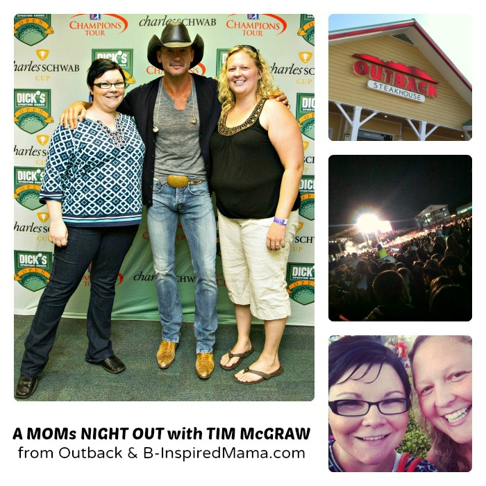 My Moms Night Out with Outback Steakhouse and Tim McGraw at B-Inspired Mama