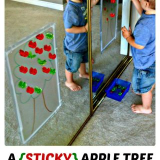 A Color Matching (Sticky) Apple Tree Activity at B-Inspired Mama
