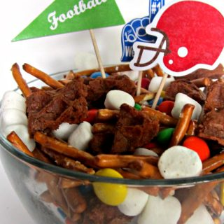 A Fun Football Party Mix Recipe with Eggo Waffles at B-Inspired Mama