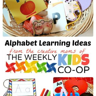 ABC Learning Ideas from The Weekly Kids Co-Op at B-Inspired Mama