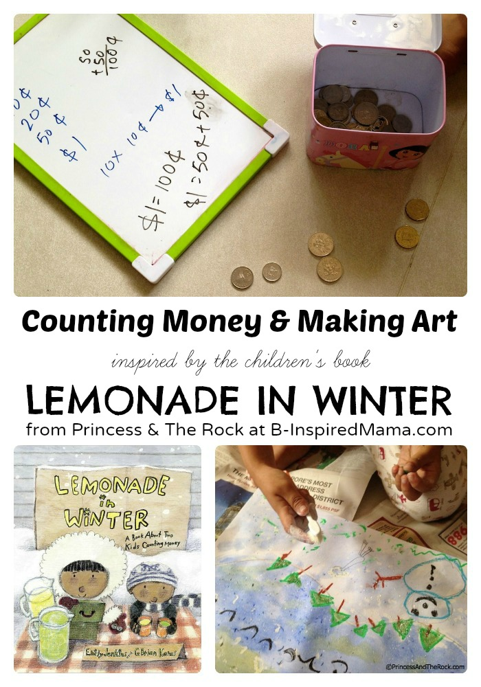 Art and Learning Preschool Activities Inspired by Lemonade in Winter at B-Inspired Mama