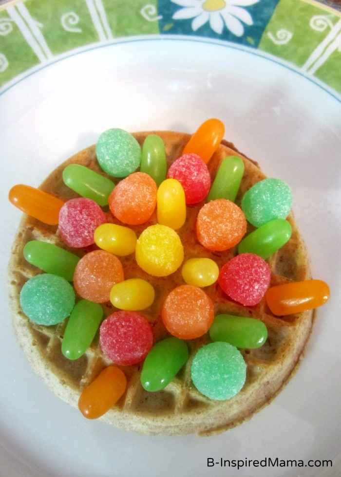 Colorful Eggo Waffle Mandala Kids Snack at B-Inspired Mama