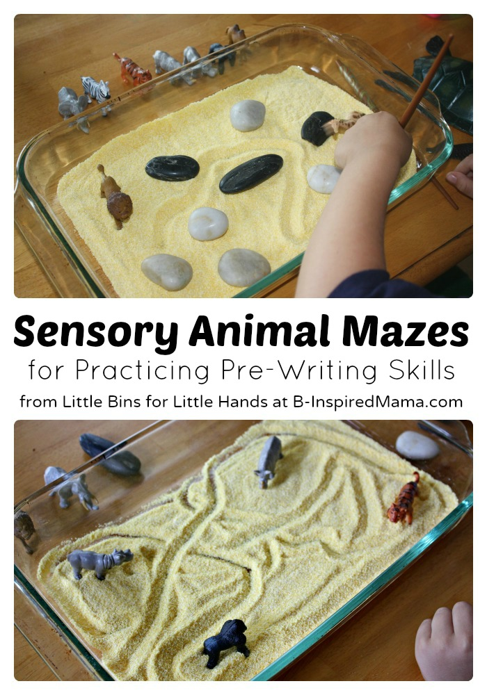 Fine Motor Development with Sensory Maze Play at B-Inspired Mama